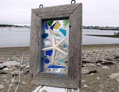 Sea Glass Window Sun Catcher by beachcreation on Etsy, $70.00