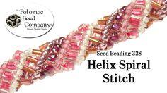 Video: Make a Helix Spiral Stitch Bracelet.  #Seed #Bead #Tutorials