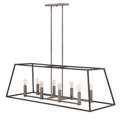 hinkley lighting fulton 8 light pendant dining room pinterest