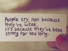 Pretty much sums it up for me... everyone has a breaking point.