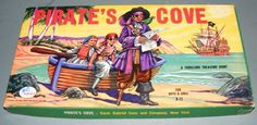 A thrilling Treasure Hunt. Pirates Cove, Games For Boys, Vintage Board Games, Skull And Crossbones, Boy Or Girl, Hobbies, Toys, Art, Ebay