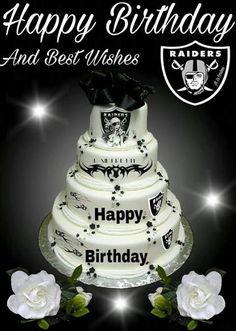 Fuckin tight cake but it kinda looks like a wedding cake. Still fuckin tight. Oakland Raiders Wallpapers, Oakland Raiders Images, Raiders Girl, Oakland Raiders Football, Nfl Oakland Raiders, Raiders Cake, Raiders Stuff, Best Birthday Gifts, Birthday Wishes