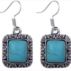 Really cute turquoise earrings Really cute turquoise earrings Jewelry Earrings