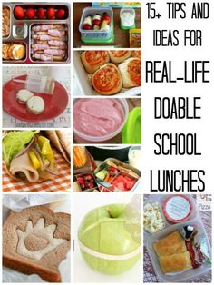 15+ Ideas and Tips for Real-Life Doable School Lunches | Remodelaholic.com #schoollunch #backtoschool #healthy @Remodelaholic .com .com