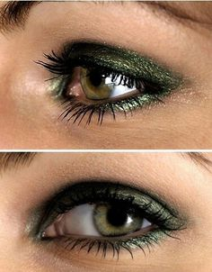 Olive eyeshadow is also great for making brown eyes pop