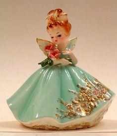 Older Josef Originals Girl Nurse Angel with Roses Figurine | eBay