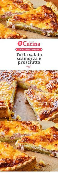 Torta salata scamorza e prosciutto