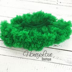 Kelly Green Pettiskirt, St. Patrick's Day petti skirt, tutu, photo shoot, dress, special occasion, newborn infant baby toddler little girl