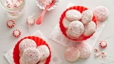 A spin-off from a classic holiday cookie with a festive peppermint twist.