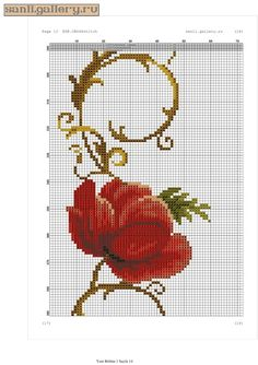 Gallery.ru / Фото #13 - gelincik.0120 - sanli Cross Stitch Flowers, Cross Stitch Patterns, 13 Tattoos, Prayer Rug, Bargello, Embroidery Stitches, Floral, Handmade, Crafts