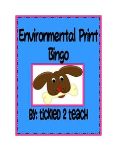 10 page bingo set of reading environmental print. Must save for beginning of the year.