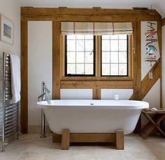 beamed-bathroom