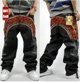 Hip Hop Baggy Jeans hommes Hiphop complet du corps broderie de planche à roulettes pantalons en Denim , Plus la taille livraison gratuite