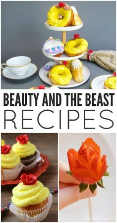 Looking to have a little magical fun Beauty and Beast style? These Beauty and the Beast recipes are sure to serve up some fun for your next tea party or special occasion.#BeOurGuestEvent #BeautyandtheBeast