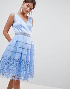 Chi Chi London Cutwork Lace Prom Dress