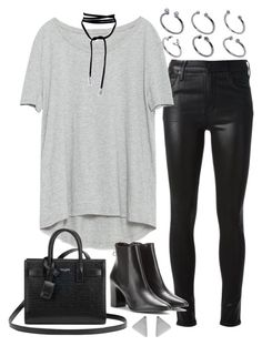 """""""Sin título #2065"""" by alx97 ❤ liked on Polyvore featuring Citizens of Humanity, Zara, Balenciaga, Yves Saint Laurent and ASOS"""