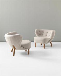 Viggo Boesen, Little Petra Chairs by A. J. Iversen, c1938.