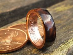 Irish coin ring old Ireland penny coin rings by KINGOFTHERINGS, $120.00