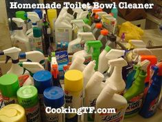 Dump the Toxins: Homemade Clinging Toilet Bowl. So simple!