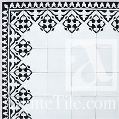 "Traditional Yuna Cement tile 8"" x 8"" Handmade Cement Tile"