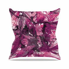 "East Urban Home Birds of Prey Throw Pillow Color: Magenta Purple, Size: 16"" H x 16"" W x 6"" D"