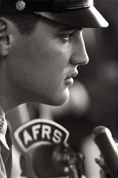 Elvis on the Armed Forces Radio Service - 1958 - Photo by Alfred Wertheimer