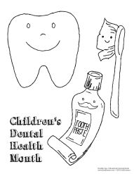 Children's Dental Health Month coloring sheet!