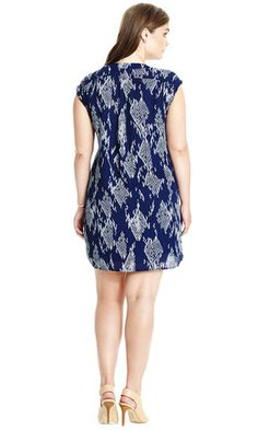 Ikat Printed Dress