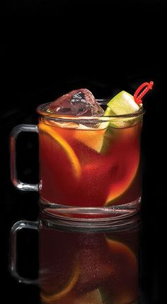Introducing the Sangria Morgana, the Captain's twist on a classic group serve recipe made with red wine, apple cider, orange juice, ginger ale, and Captain Morgan Original Spiced Rum. Check out more Captain Morgan spiced rum drink recipes.