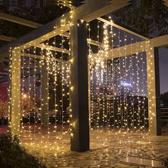 LEORX Curtain Lights 300 LEDs X 8 Modes Curtain Fairy Lights for New Year Wedding Party Bedroom Garden Patio Outdoor Indoor, Warm White afflink String Lights Outdoor, Outdoor Lighting, Light String, Led Curtain Lights, Window Lights, New Years Wedding, Garden Bedroom, Outdoor Curtains, White Backdrop