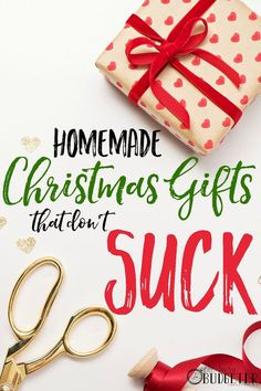 Cheap DIY Christmas Gifts That Don't Suck. This list of super easy DIY Christmas gifts was a life saver this year! We had a tight Christmas budget and this helped. If you need cheap Christmas gifts or DIY Christmas gifts this is the best list. Easy Diy Christmas Gifts, Christmas On A Budget, Easy Diy Gifts, Cheap Gifts, Xmas Gifts, Holiday Crafts, Cheap Christmas Presents, Meaningful Christmas Gifts, Christmas Decorations
