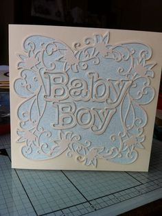 A simple Baby card using Tonic dies