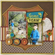 cricut scrapbook pages | Gone Fishin' Scrapbook Page made by Jana Eubank for the Cricut Circle ...