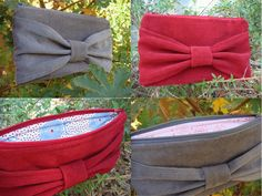 DIY bow clutch (now, i just need a sewing machine and someone to make this for me!)
