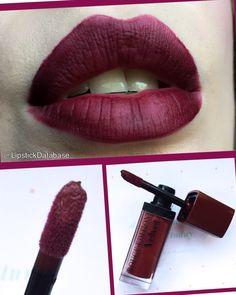 The Lipstick Database: Bourjois Rouge Edition Velvet Liquid Lipstick in Dark Cherie - full review at @LipstickDatabase on Instagram