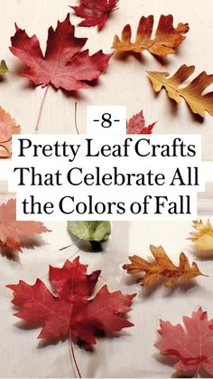 Autumn Crafts, Holiday Crafts, Holiday Fun, Diy Craft Projects, Decor Crafts, Diy Crafts, Crafts To Make, Crafts For Kids, Leaf Crafts