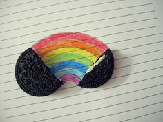Inside an Oreo! A rainbow haha Taste The Rainbow, Over The Rainbow, Naha, Piece Of Me, More Cute, Cookies Et Biscuits, Cute Photos, Rainbow Colors, Make Me Smile