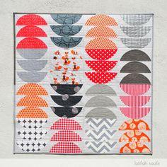 Polka Dot Fox Quilt by Latifah Saafir. Featuring the Muffin Tops block.