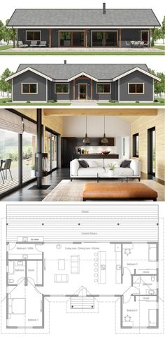Small House Plan, Small Home Plan Modern House Plans, Small House Plans, House Floor Plans, Cheap House Plans, Cheap Houses, Story House, House Layouts, Building A House, Building Ideas