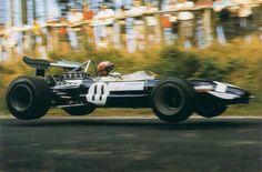 Jo Siffert at the 'Ring Vintage Racing, Vintage Cars, Antique Cars, Racing Team, Road Racing, F1 Lotus, Gilles Villeneuve, Race Engines, Formula 1 Car