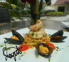 Spaghetti and Sea food