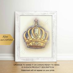 Art Wall Kids, Nursery Wall Art, Art Kids, Prince Nursery, Royal Nursery, Crown Art, Baby Princess, Crown Royal, Baby Boy Nurseries