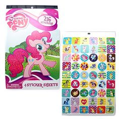 My Little Pony Sticker Book Craft Stickers, Laptop Stickers, My Little Pony Stickers, Candy Bags, Game Art, Party Favors, Spiderman, Birthday Parties, Arts And Crafts