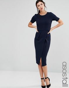 ASOS+TALL+Double+Layer+Textured+Wiggle+Dress