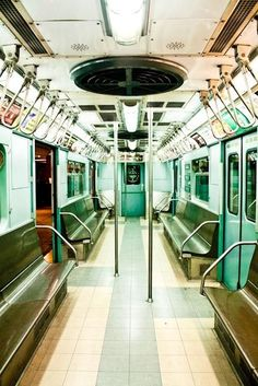 Mint Green New York City Subway Photography - NYC Subway Fine Art Photograph - new york city wall art - subway art - train photography Nyc Subway, New York Subway, Subway Art, Metro Subway, New York City, Level Design, Marc Riboud, Ville New York, A New York Minute