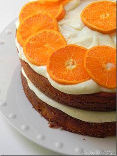 orange crunch cake #baking #recipe #cake