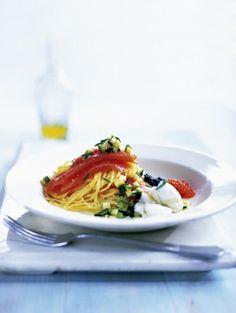 tagliolini met zalm en ricotta - Recepten - Eten - ELLE | ELLE