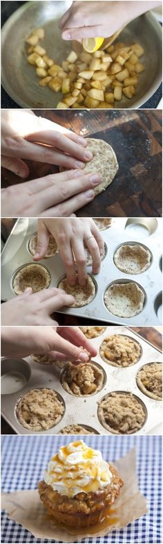Apple Pie Cupcakes  Pretty sure I just found what I'll be bringing to my next family gathering!