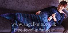 SPLASH. Knitted Mermaid Tail. www.angelknits.co.uk
