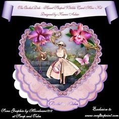 The Orchid Dale - Heart Shaped Wobble Card